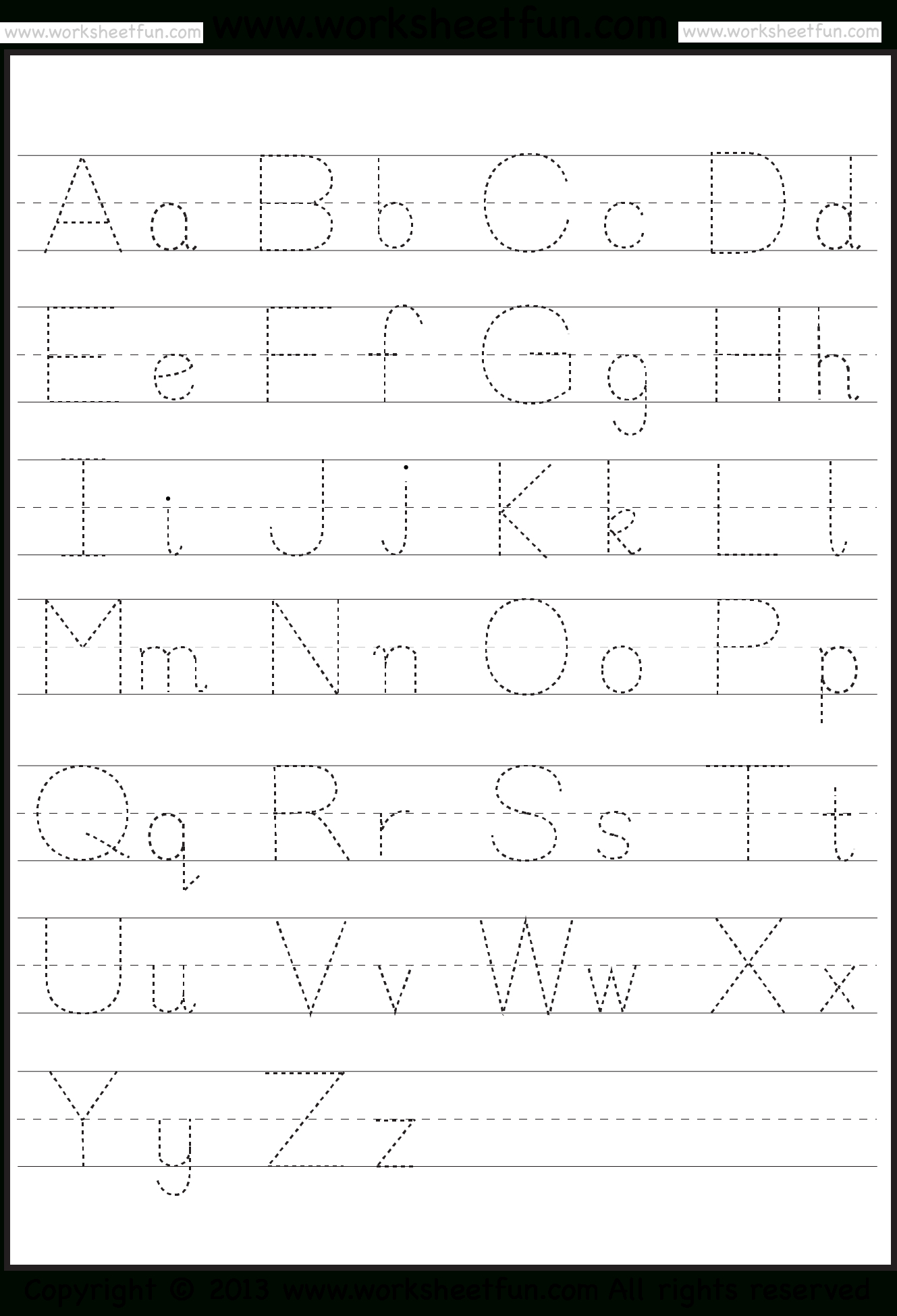 Free Printable Abc Tracing Letters