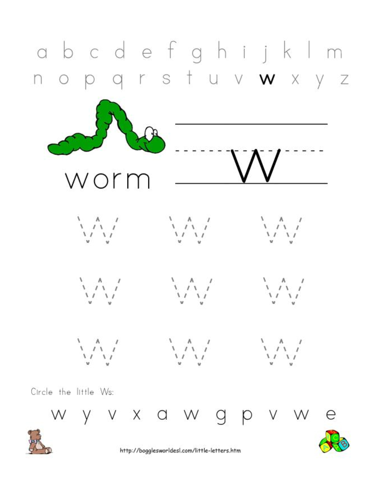 Letter Tracing Worksheets Doc