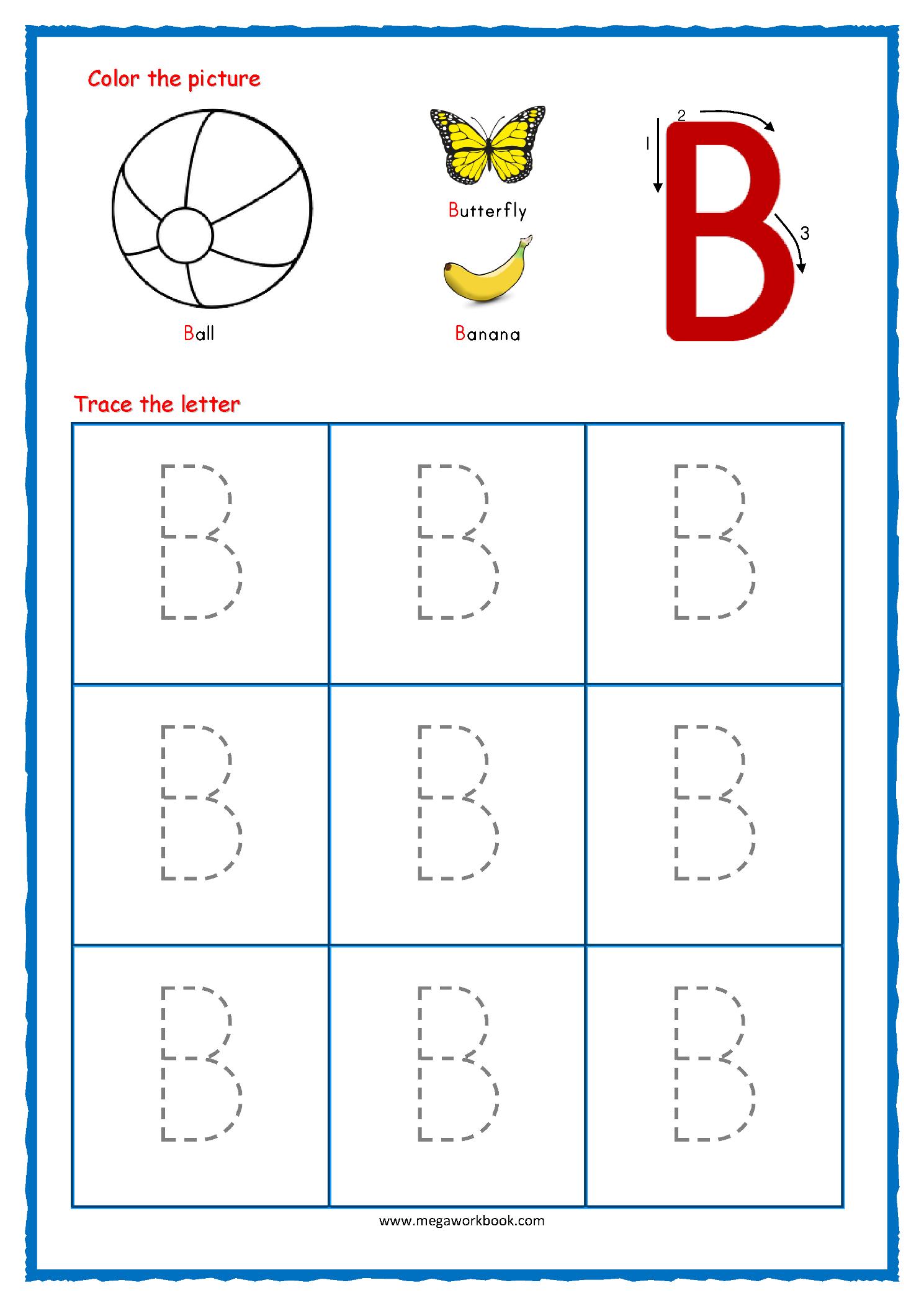 Tracing Letters Worksheet Printable Free