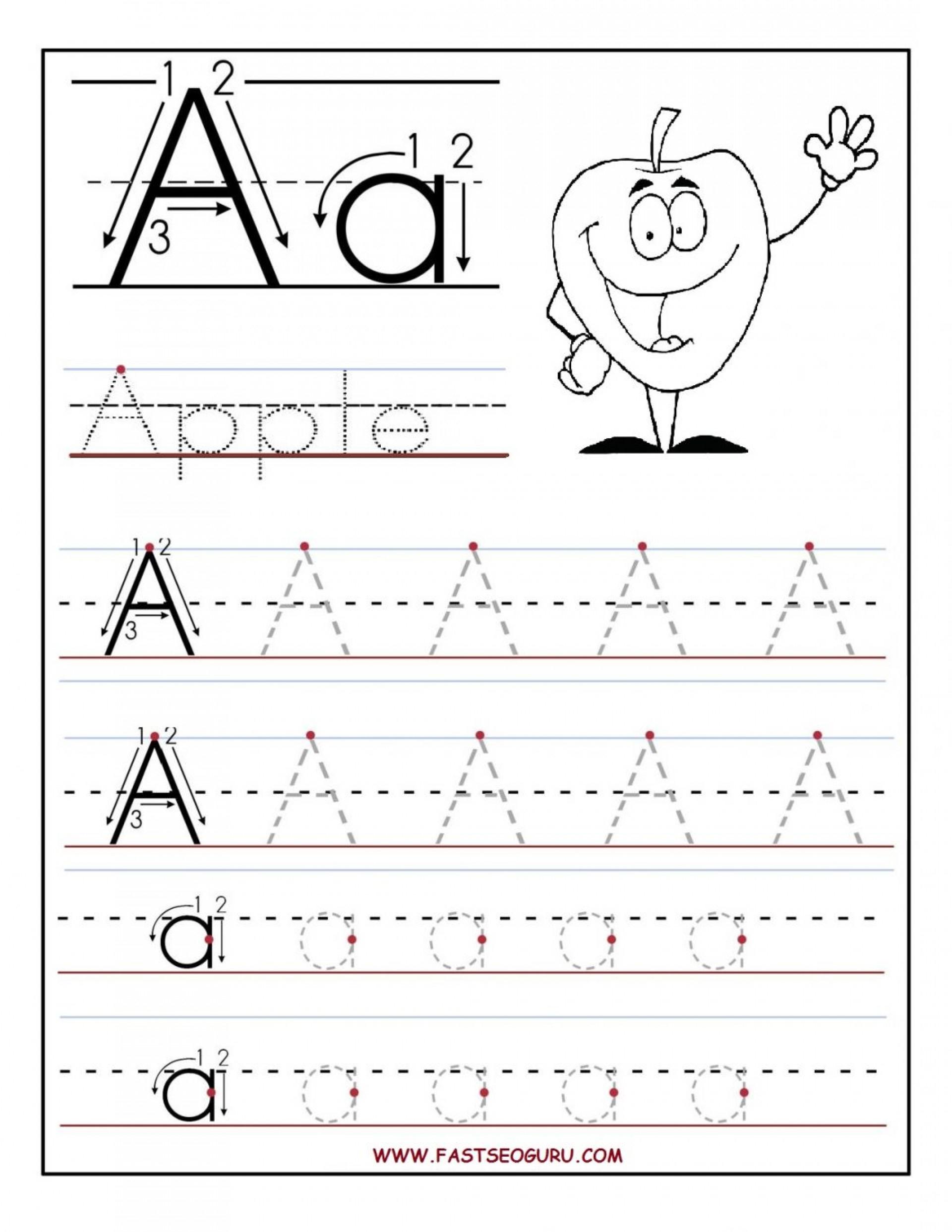 Printable Preschool Worksheets Tracing Letters
