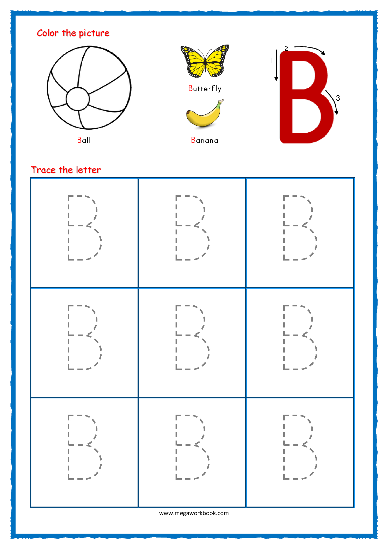 Letter Tracing Worksheets For Preschoolers Free