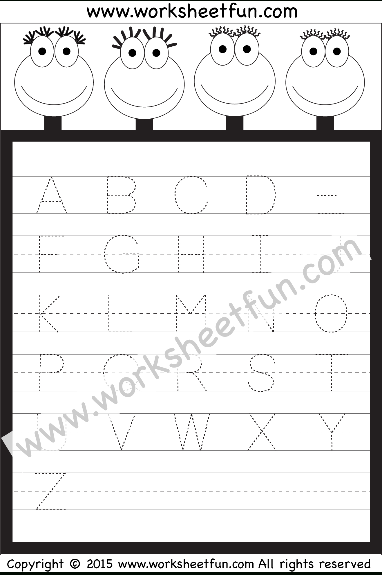 Tracing Capital Letters Worksheets