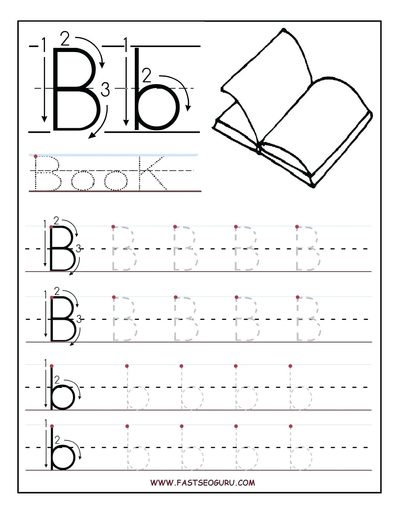 Letter Tracing Worksheets Pre K