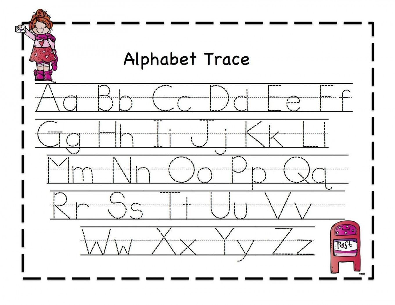 Tracing Letters For Kindergarten