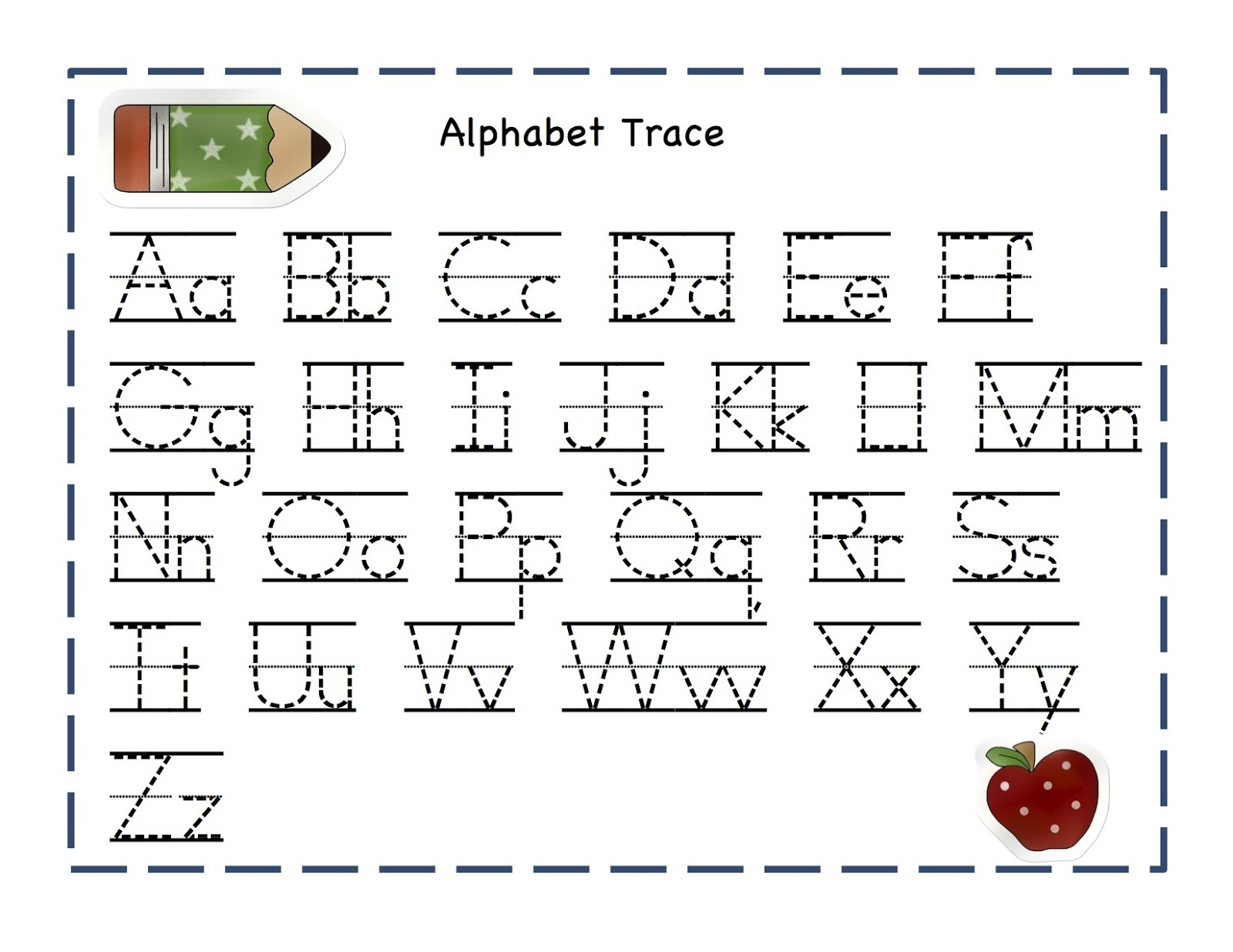 Tracing Over Letters Worksheets