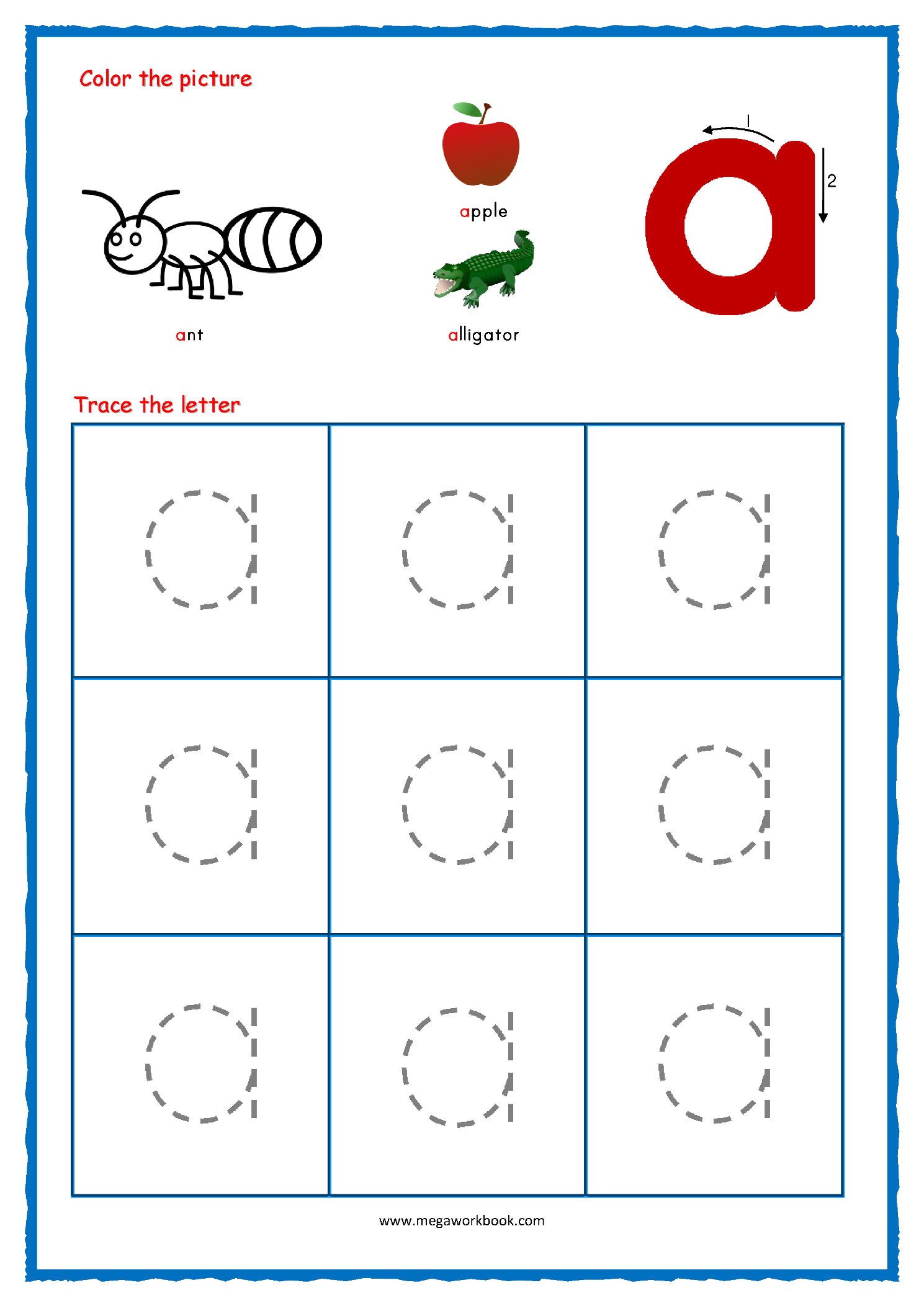 Preschool Tracing Letters Name