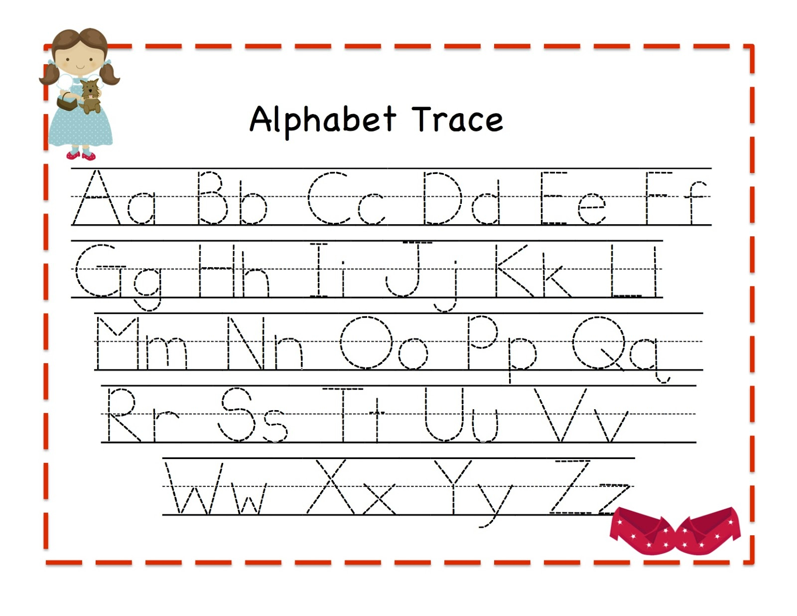 Free Printable Tracing Alphabet Letters Az