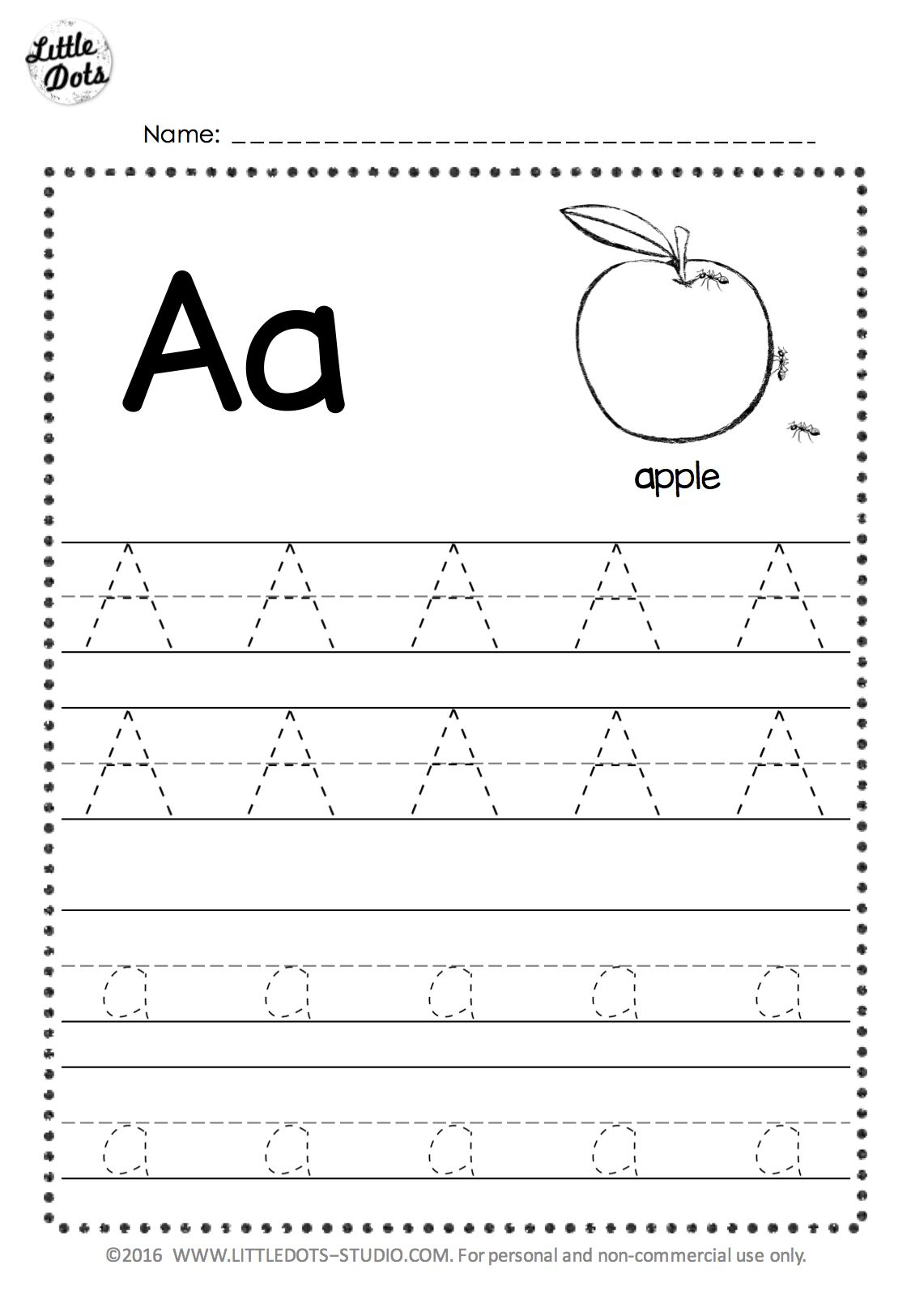 Tracing Letters Font Download
