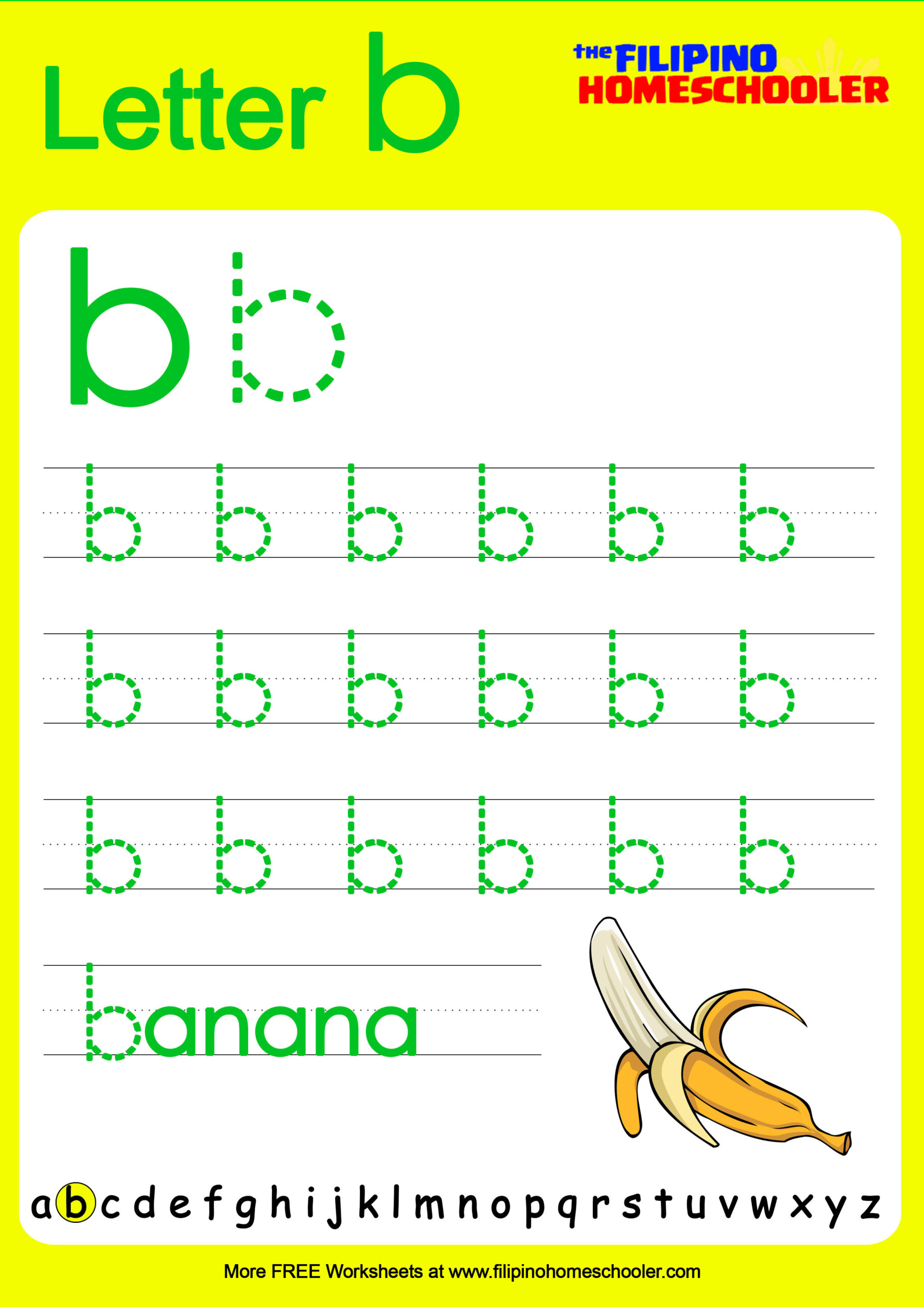 Alphabet Tracing Lowercase Letters