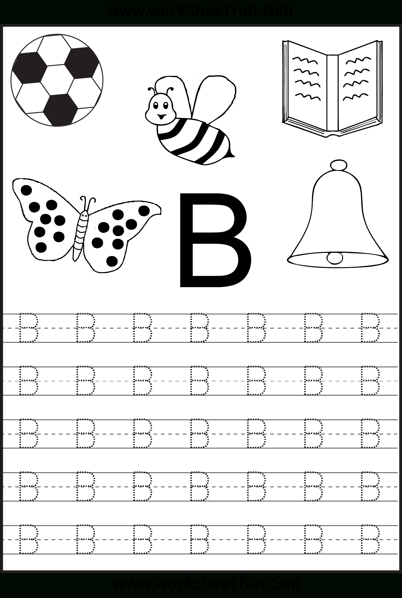 Tracing Worksheets For Kindergarten On Letters