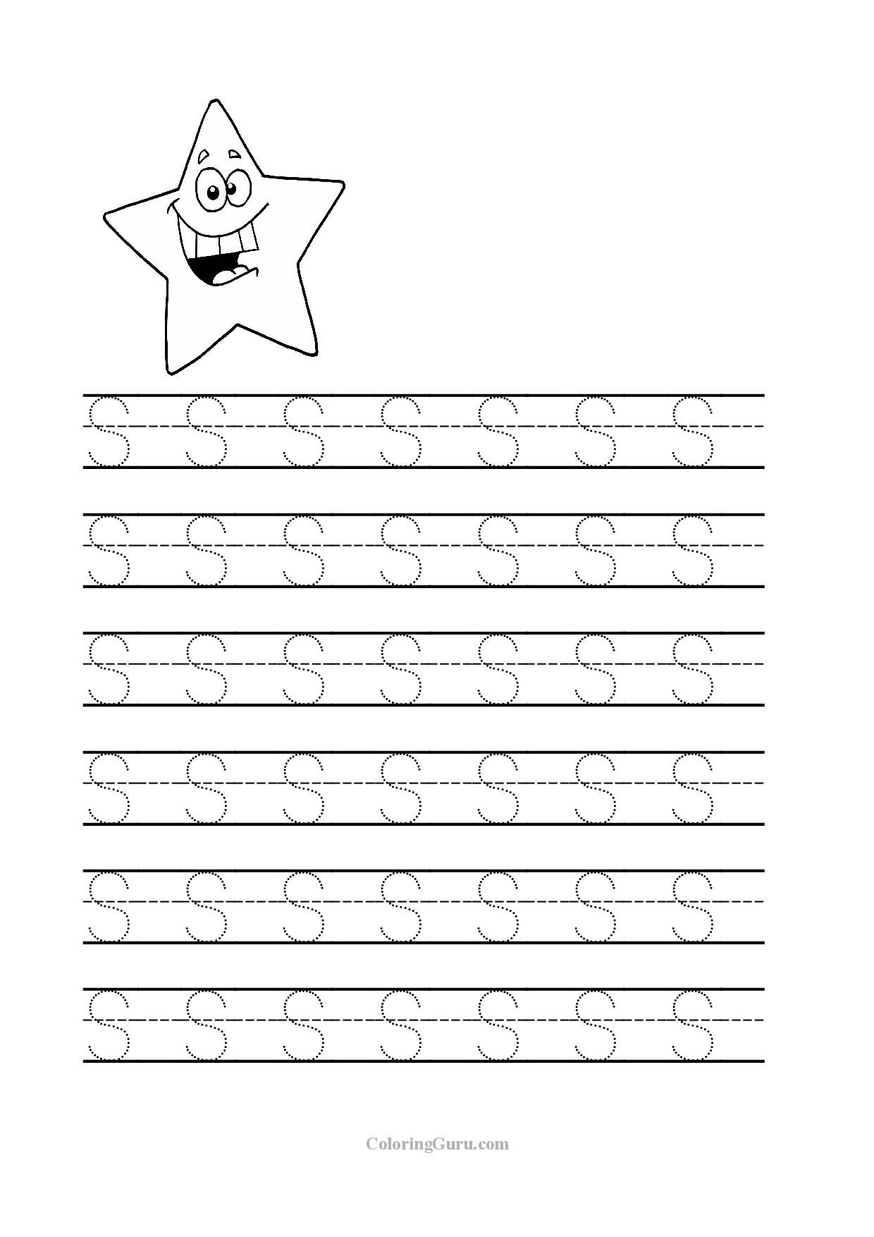 Free Printable Tracing Letters For Kindergarten