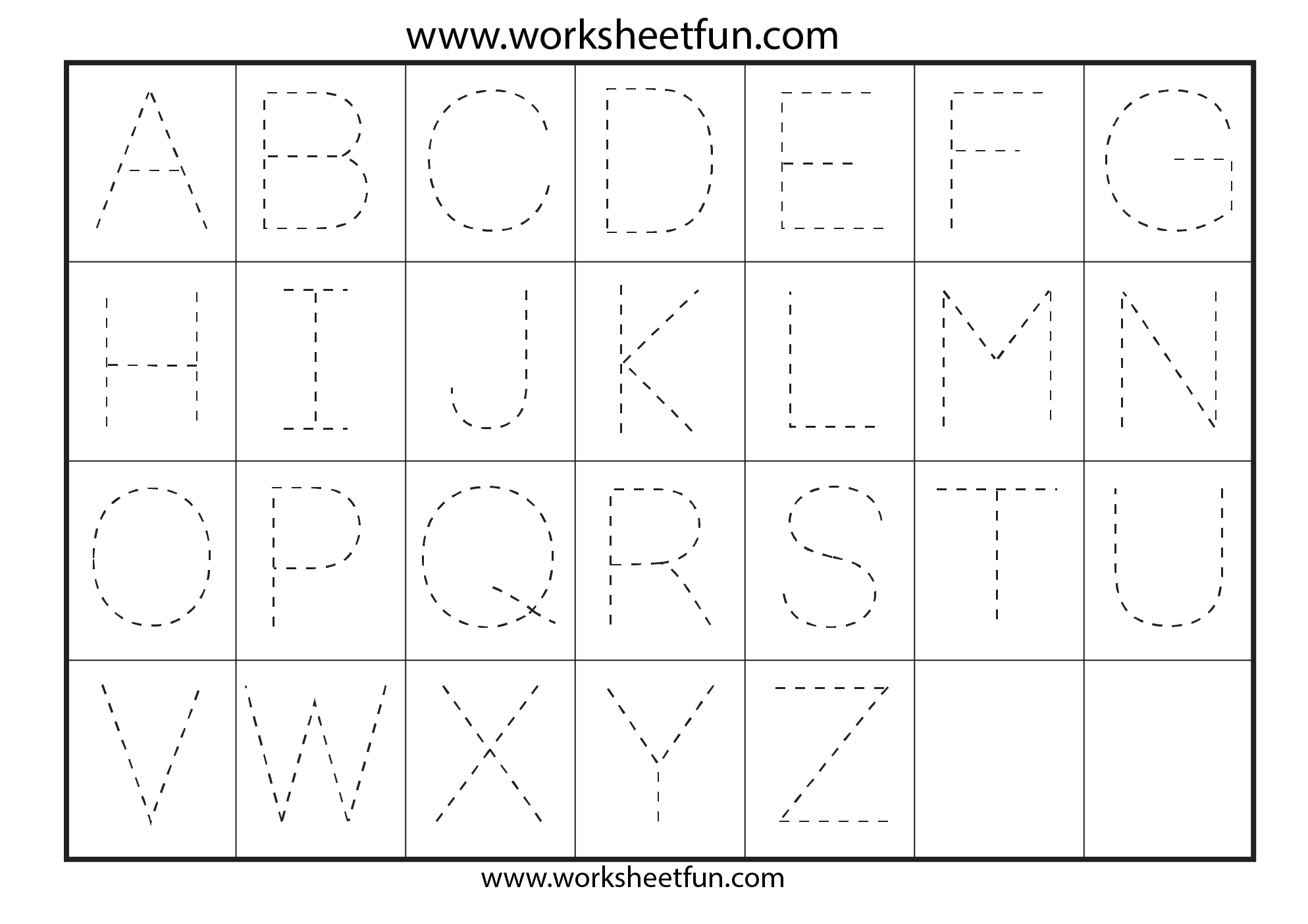 Tracing Letters Worksheets Free Printable