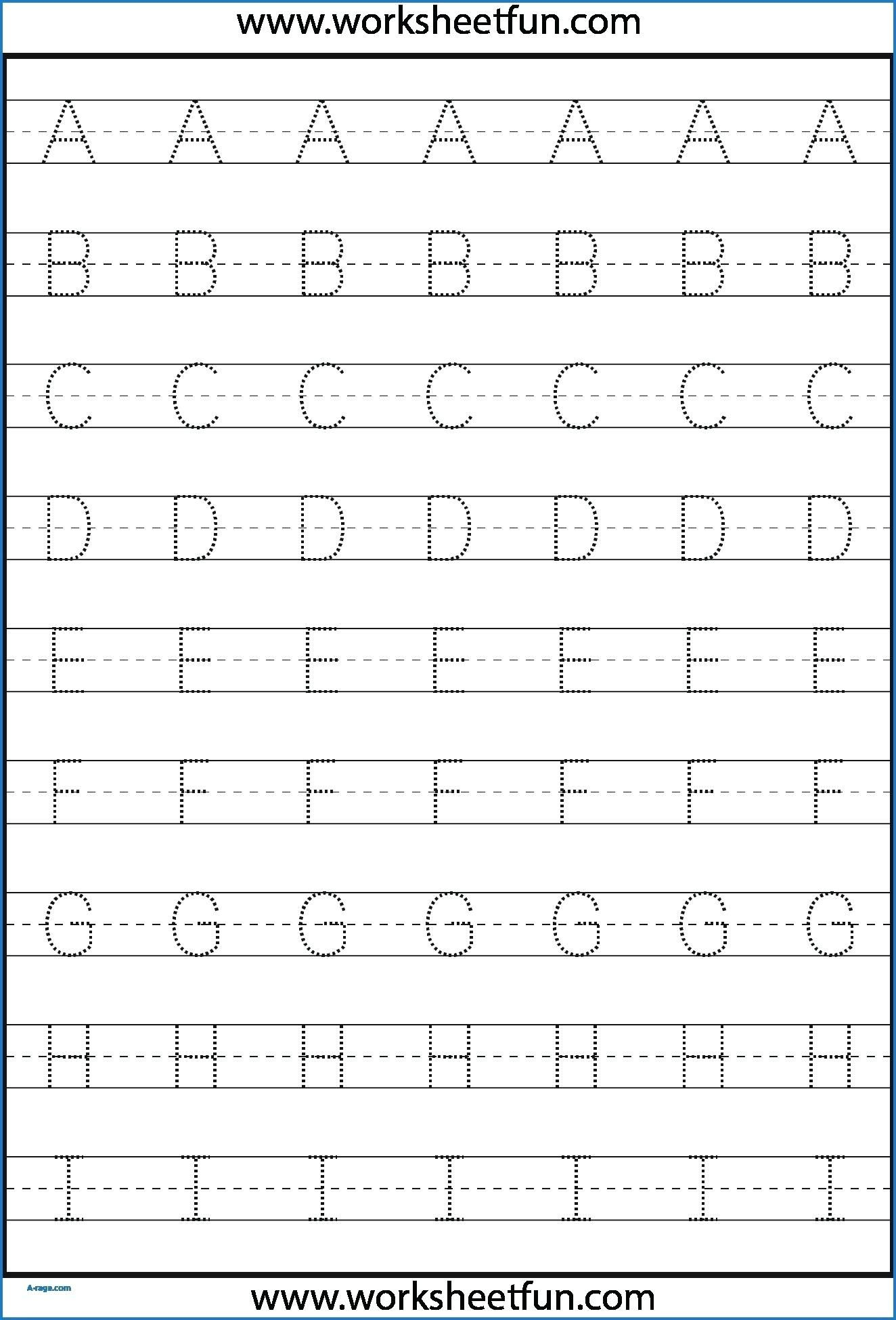 Tracing Letters For Kindergarten Free