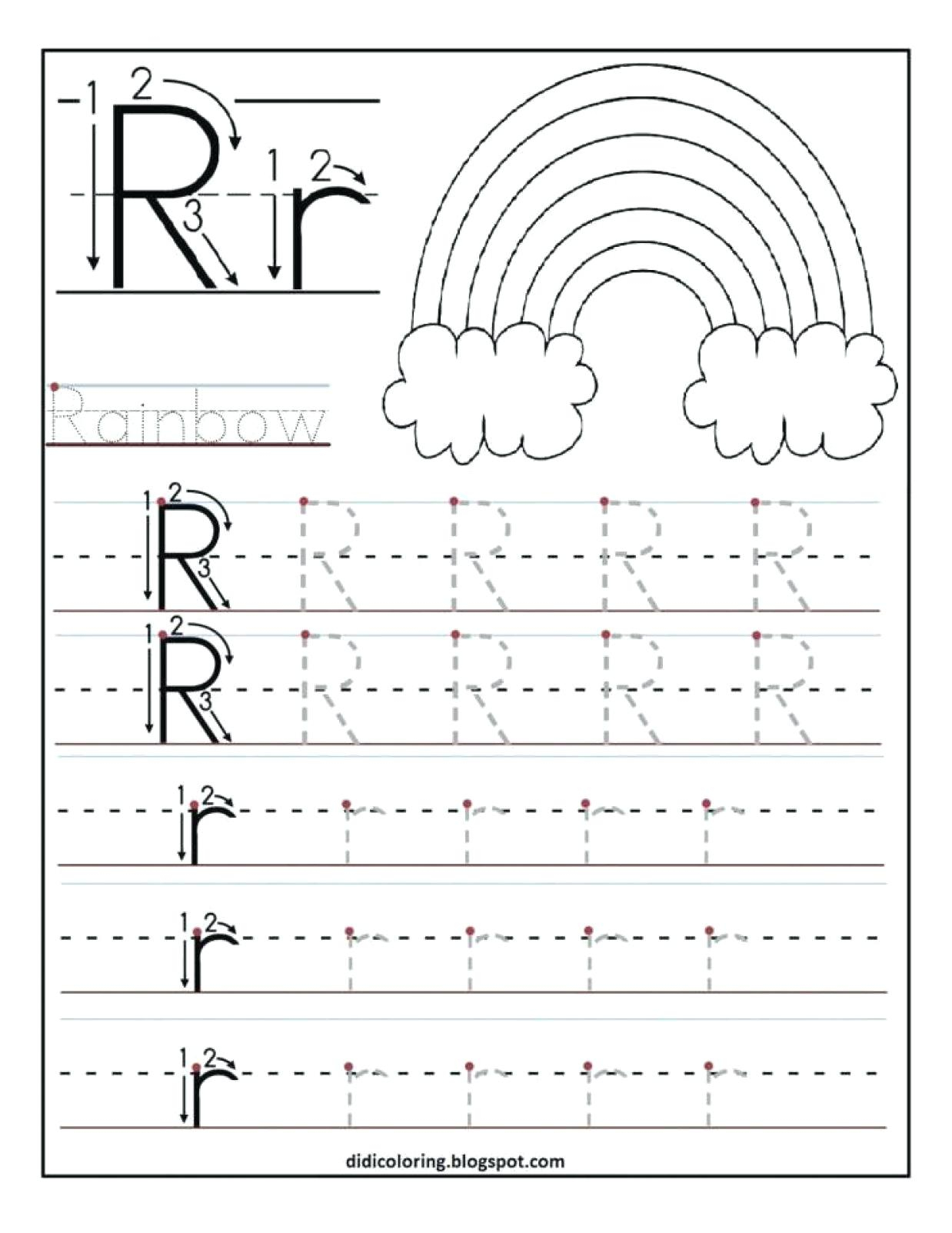 Tracing Letter S Worksheets For Kindergarten
