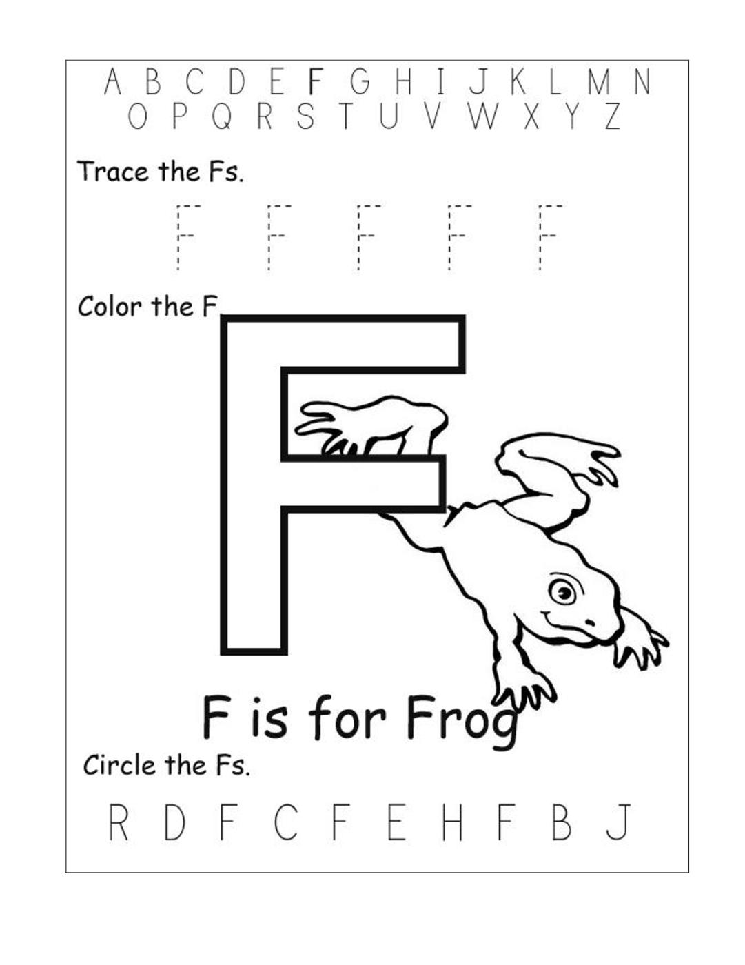 Tracing Letter F Worksheets Preschool