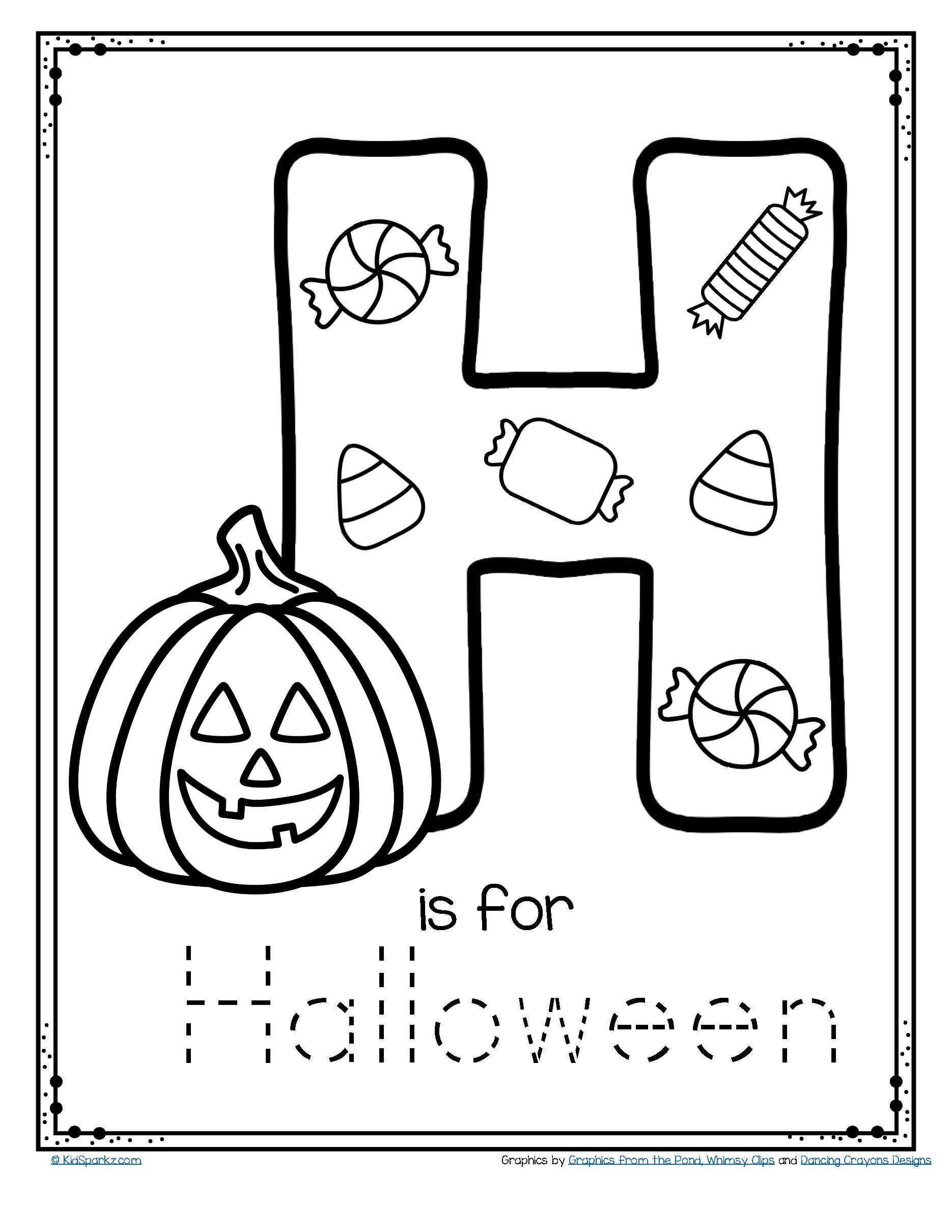 Halloween Tracing Letters
