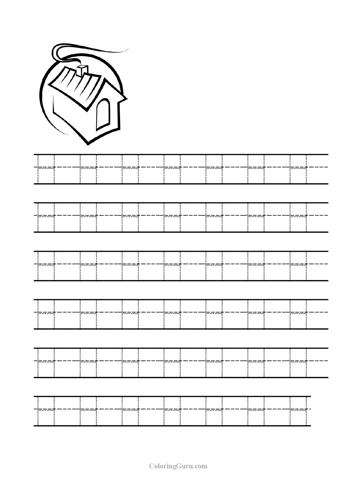 Free Tracing Letter H Worksheets