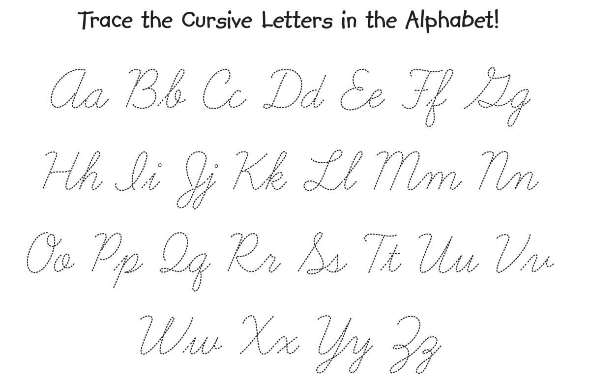 Calligraphy Letters Tracing