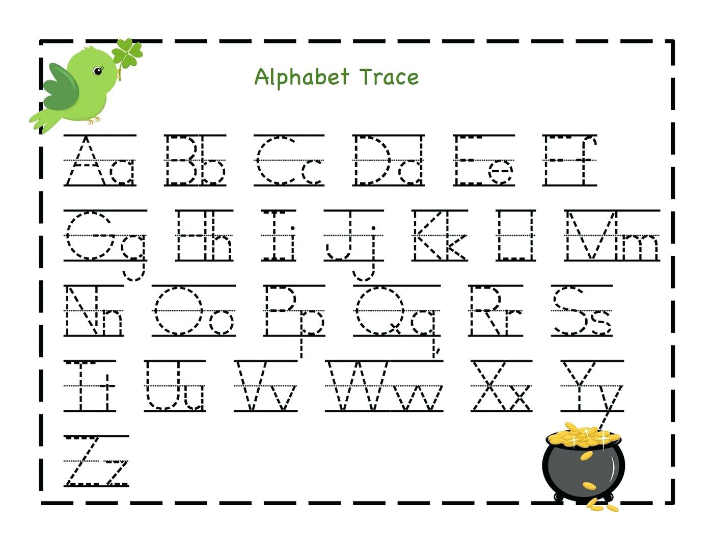 Uppercase And Lowercase Letters Tracing Worksheet