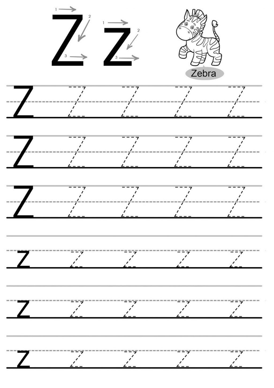 Tracing Letter Z Worksheets