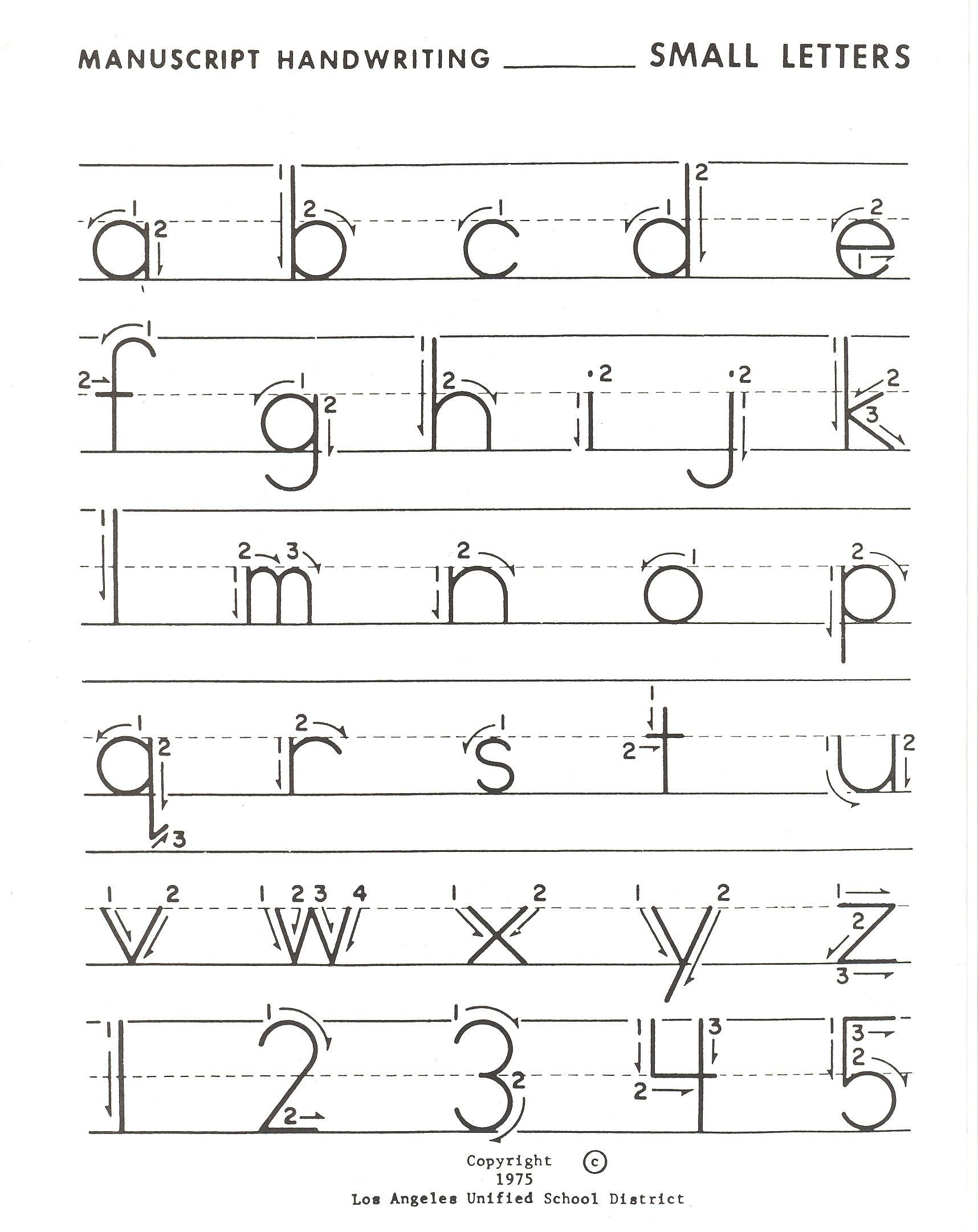 Tracing Lowercase Alphabet Letters