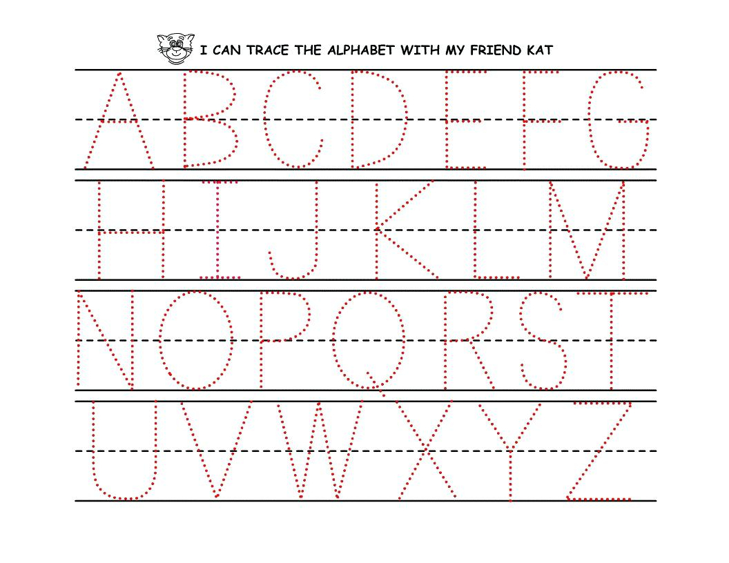 Dot To Dot Letters For Tracing