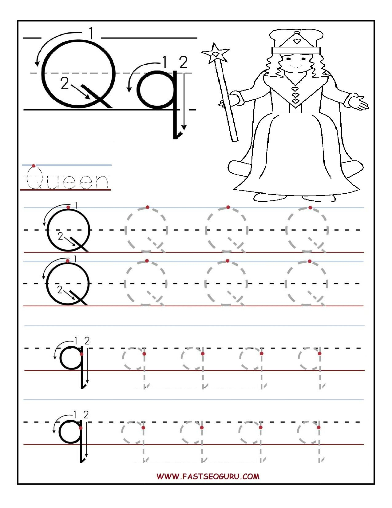Letter Tracing Worksheets Toddlers