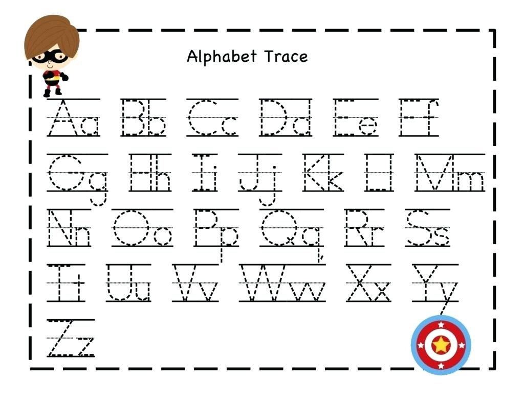 Kindergarten Tracing Letters And Numbers