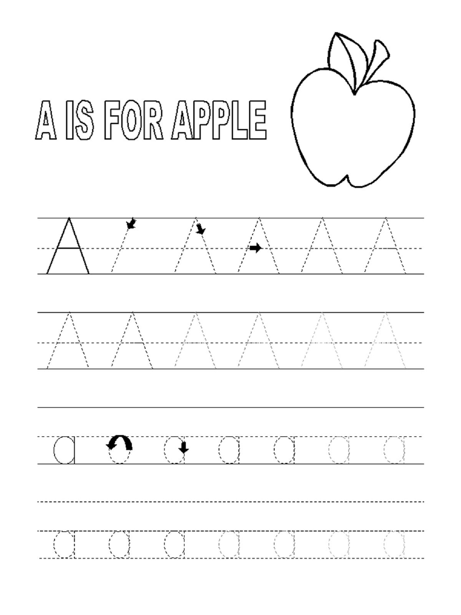 Tracing Letters For 3 Years Old