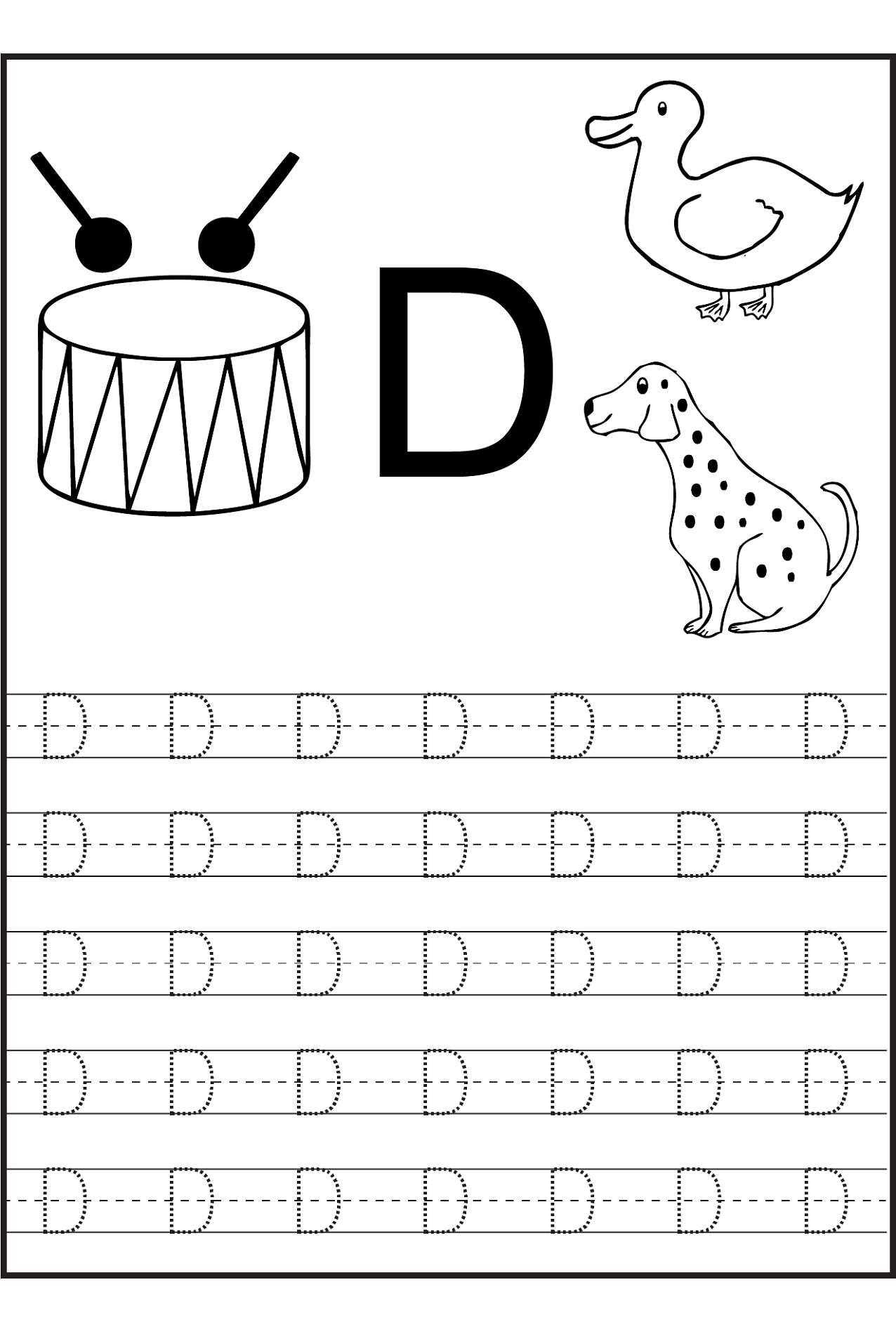 Letter Tracing Worksheets Editable