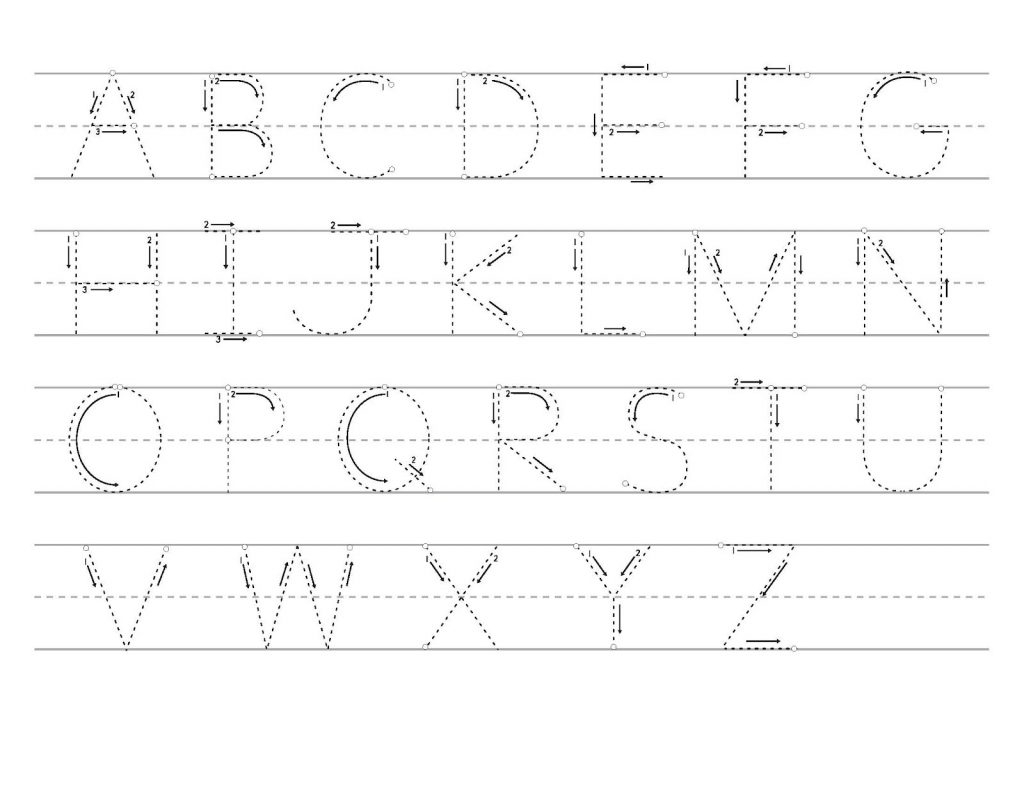 Tracing Uppercase Letters Printable Worksheets