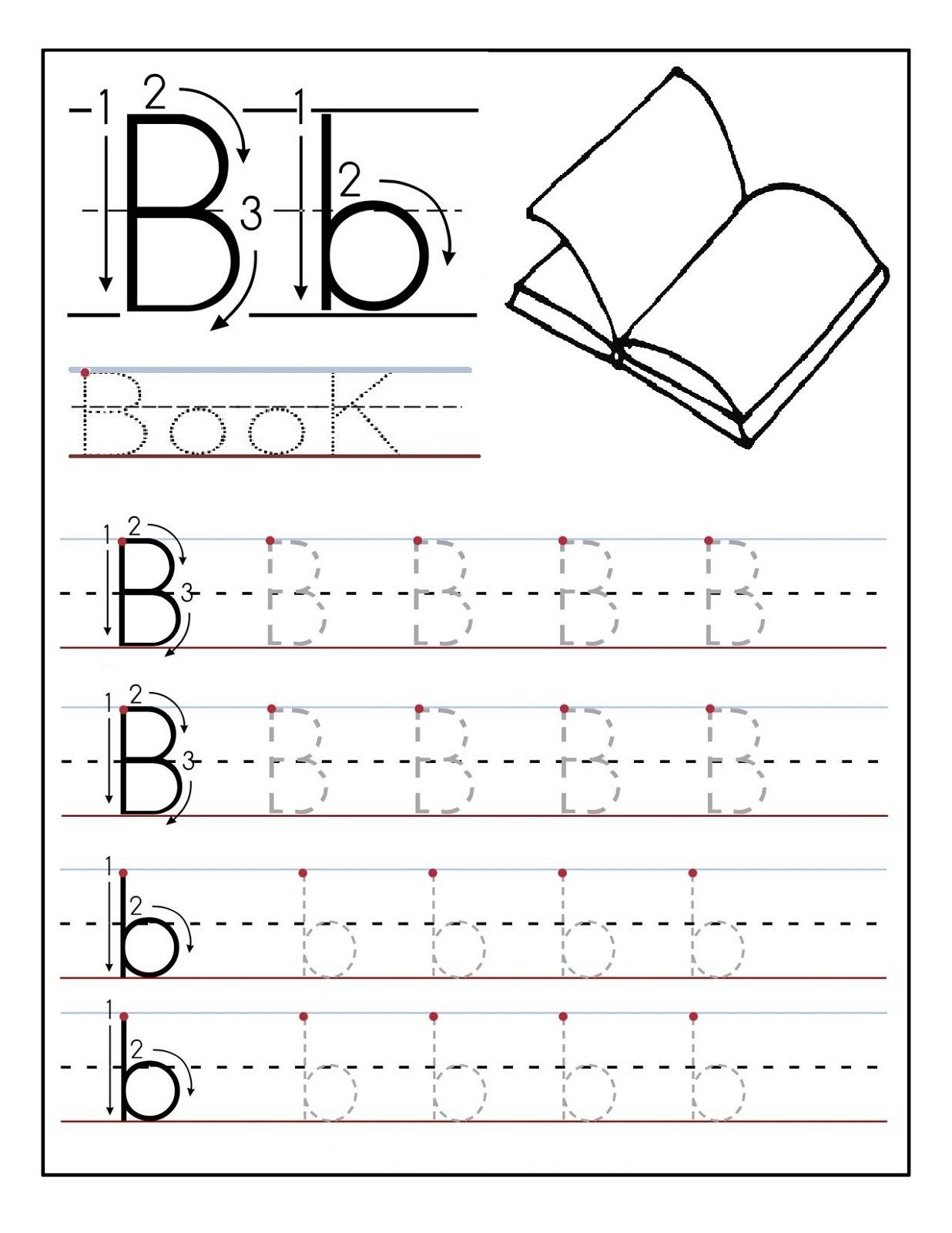 Preschool Dotted Letters For Tracing