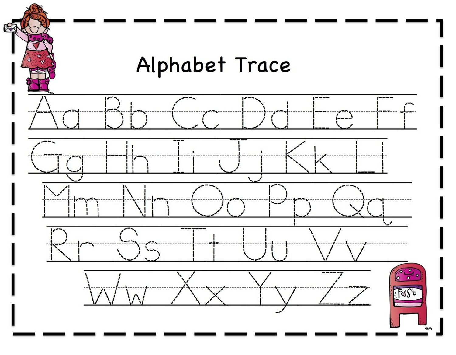 Tracing Letters Font Free Download