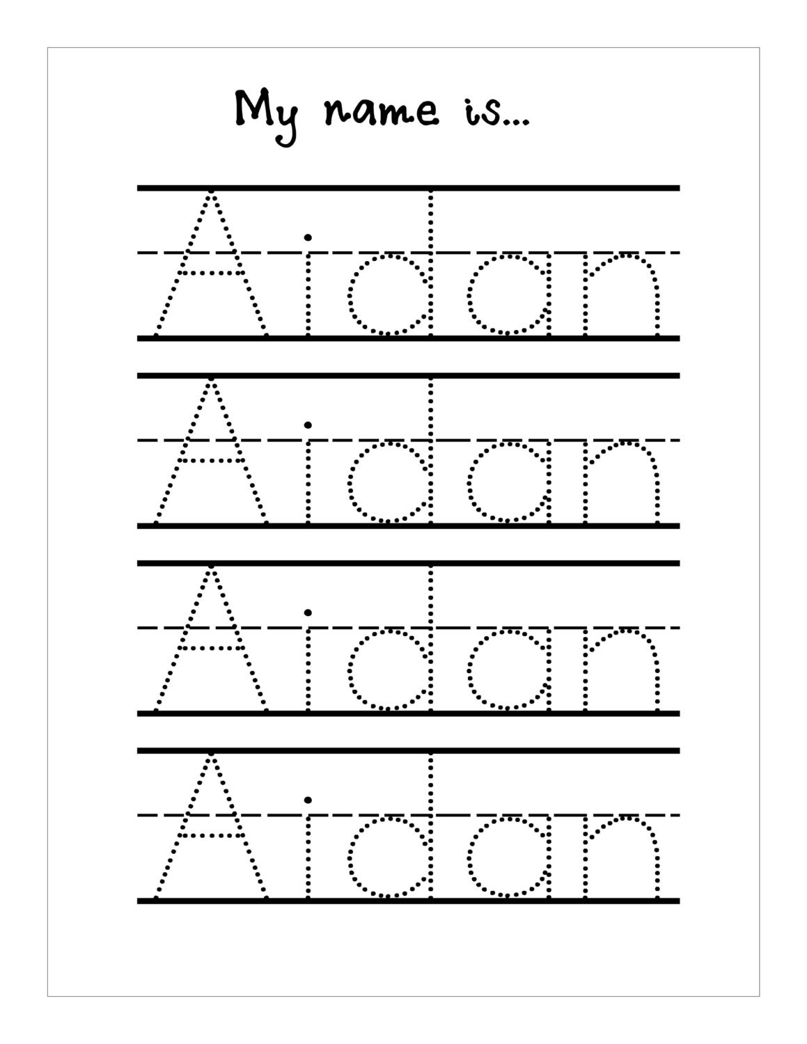 Tracing Letters Worksheet Maker