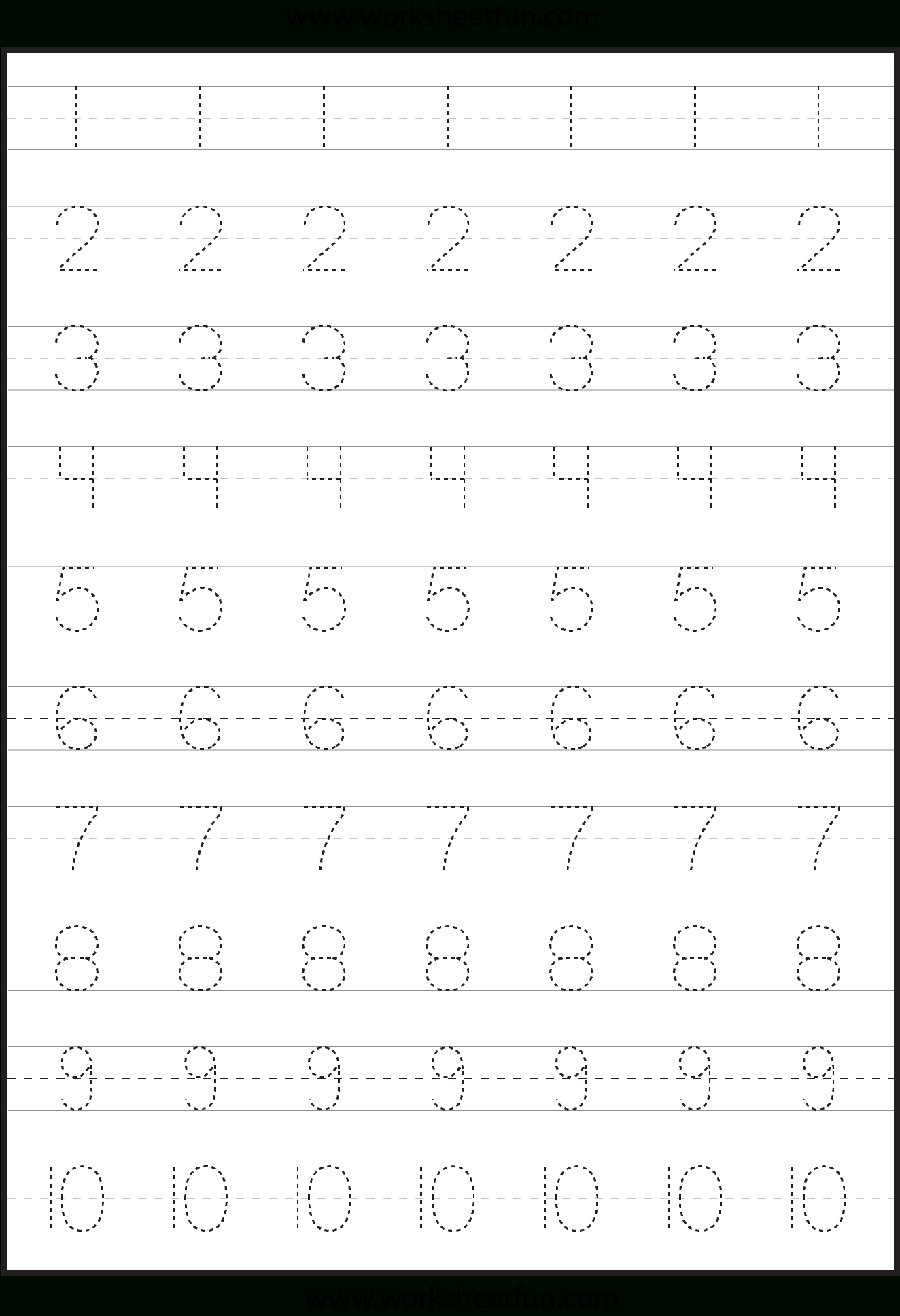 Tracing Numbers And Letters Worksheets