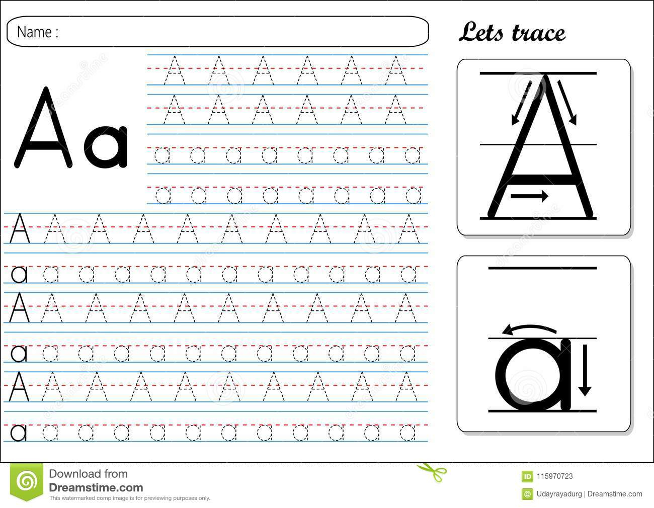 English Small Letters Tracing Worksheets