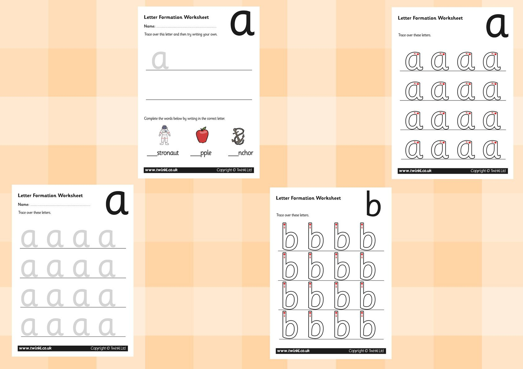 Letter Tracing Worksheets Twinkl
