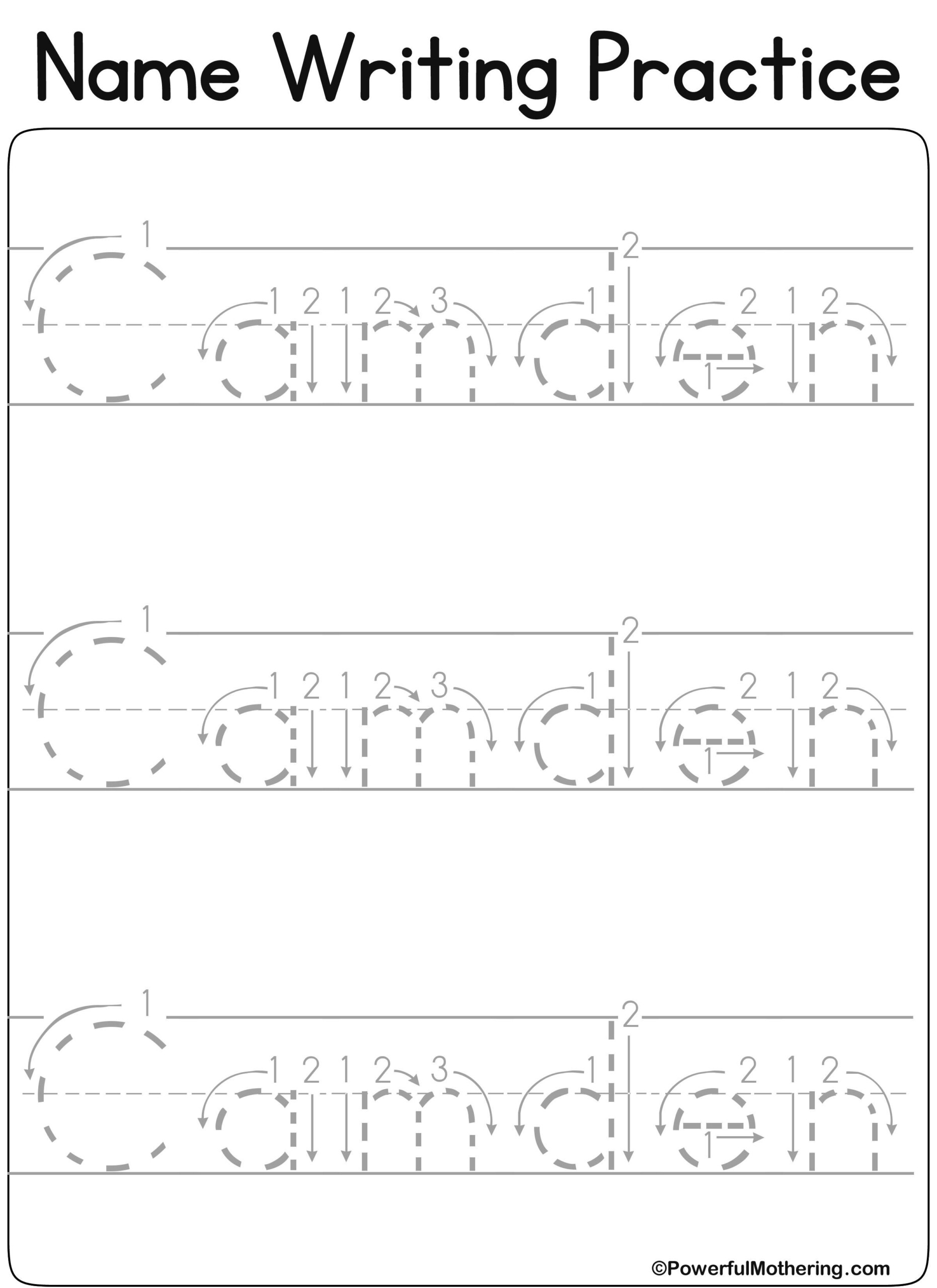 Tracing Letters Custom