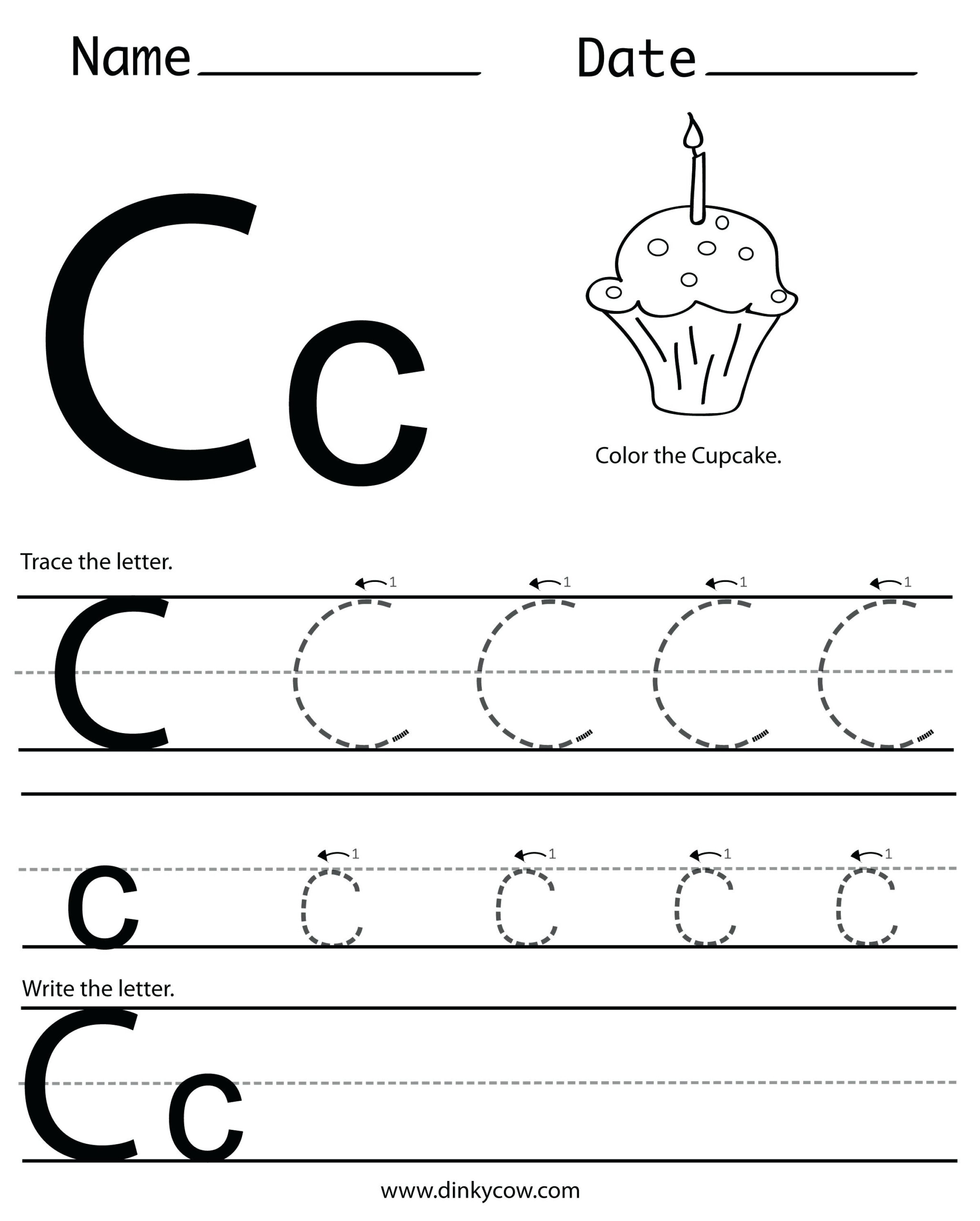 C Letter Tracing