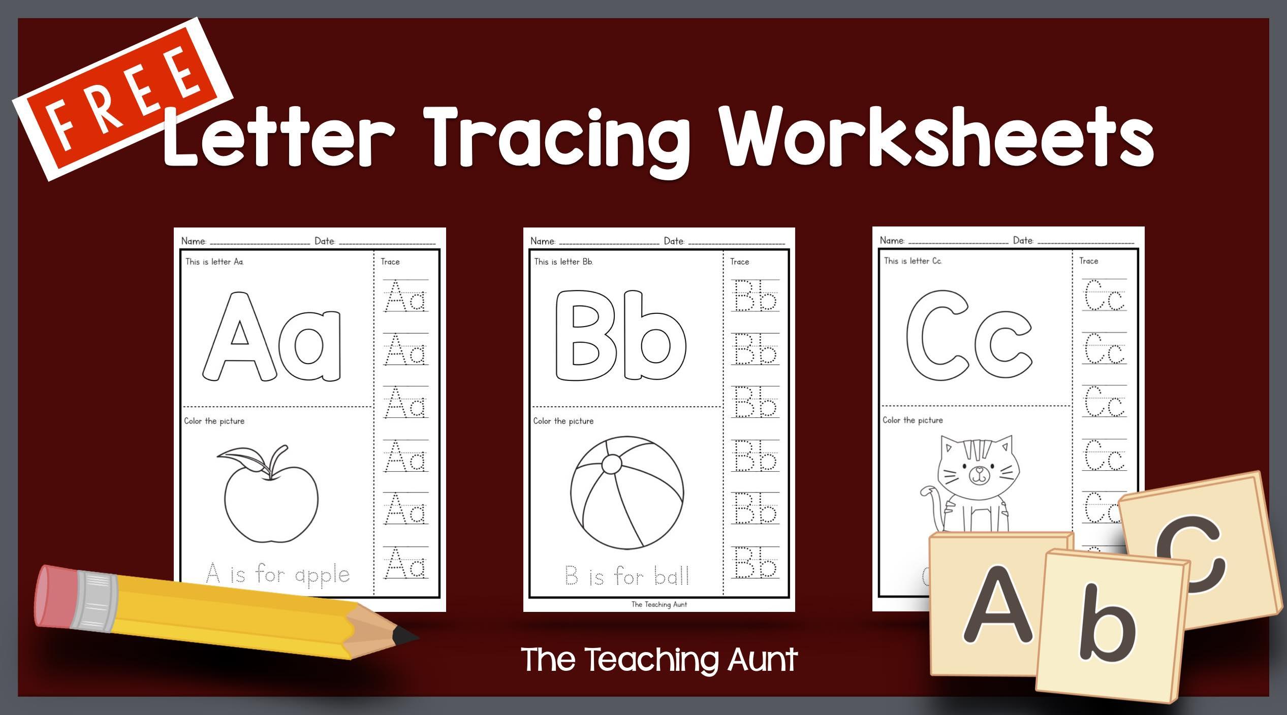 Name Letter Tracing Worksheets