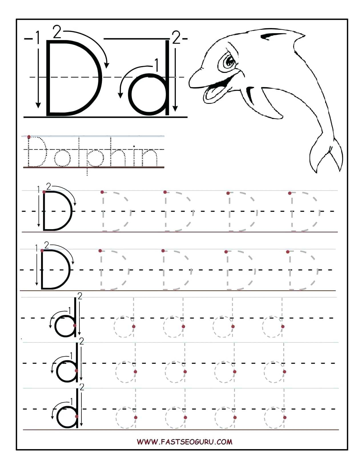 Alphabet Tracing Worksheets For 2 Year Olds