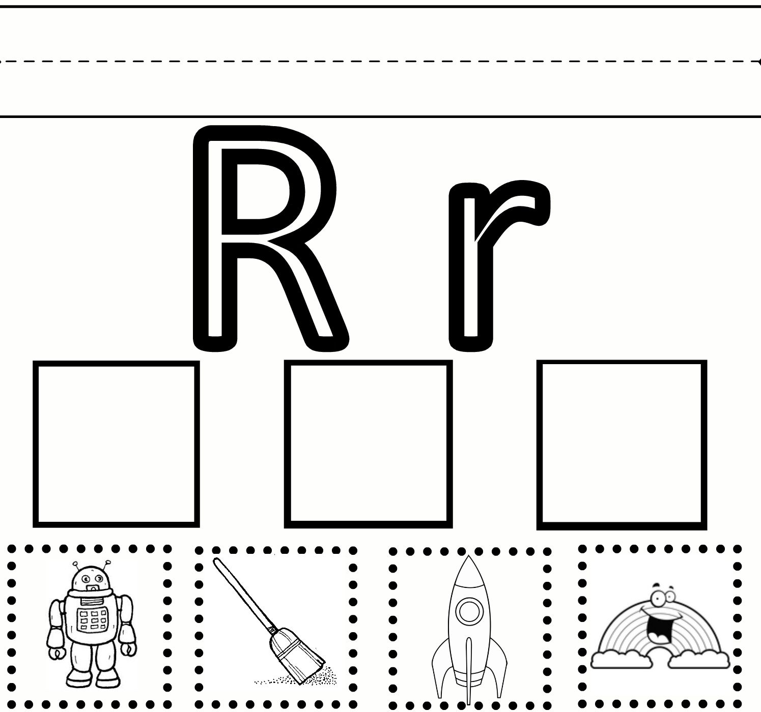 Letter R Tracing Pages