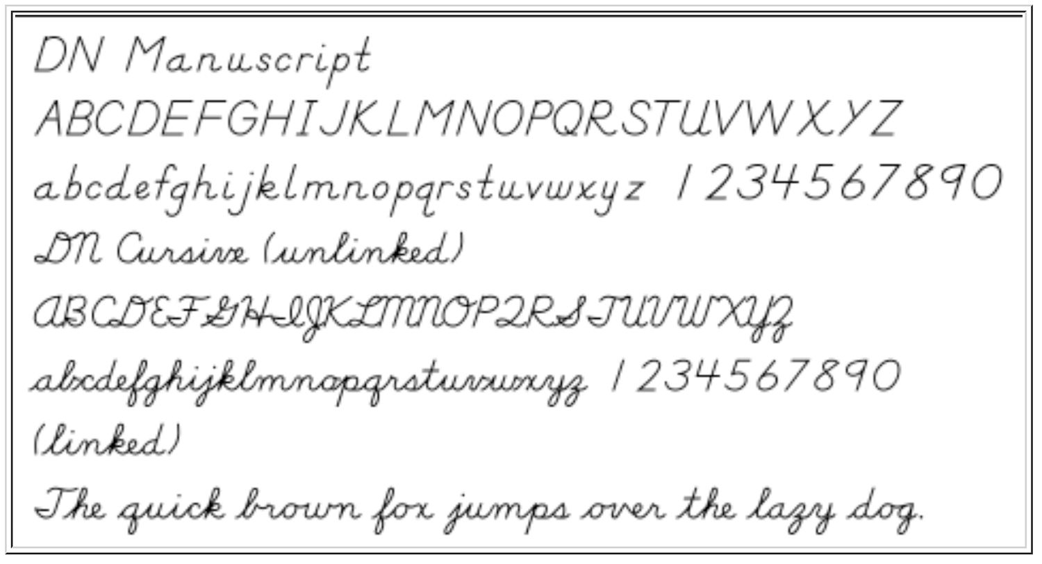 Tracing Font Style