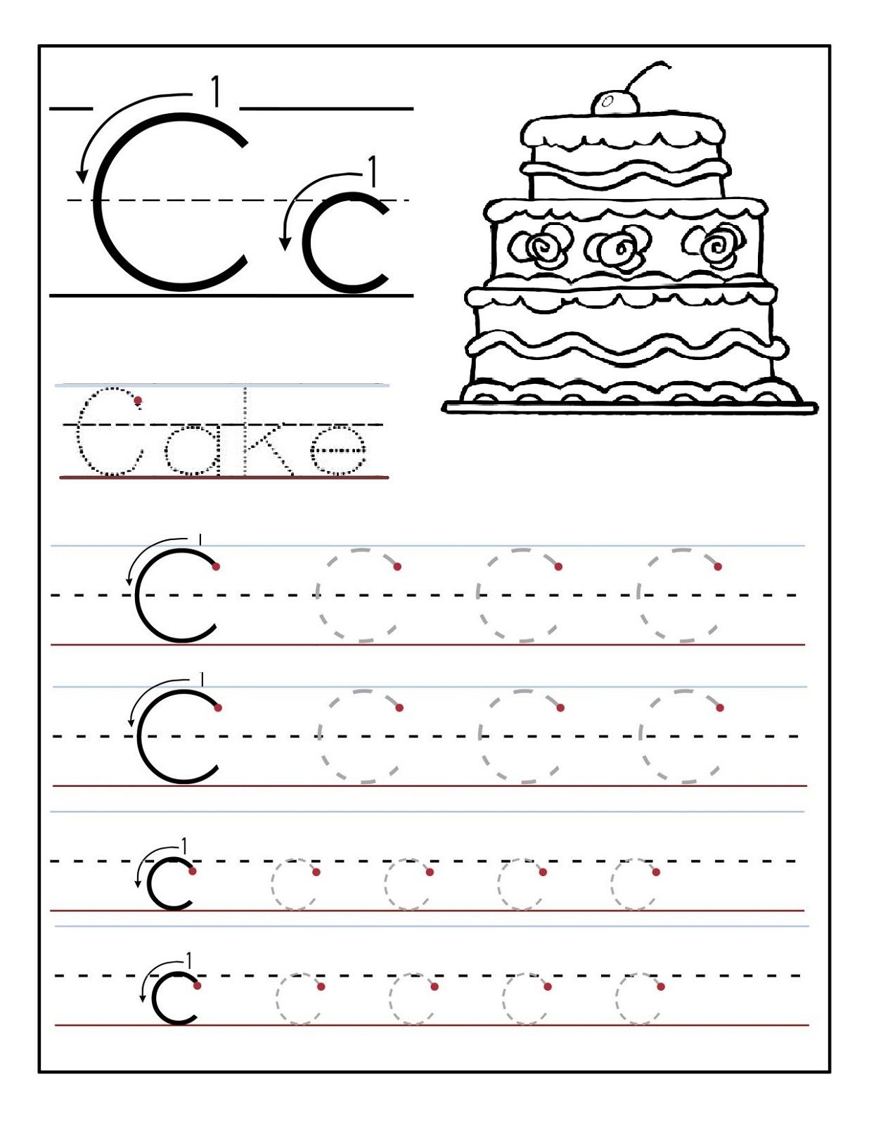 Letter C Tracing Printable