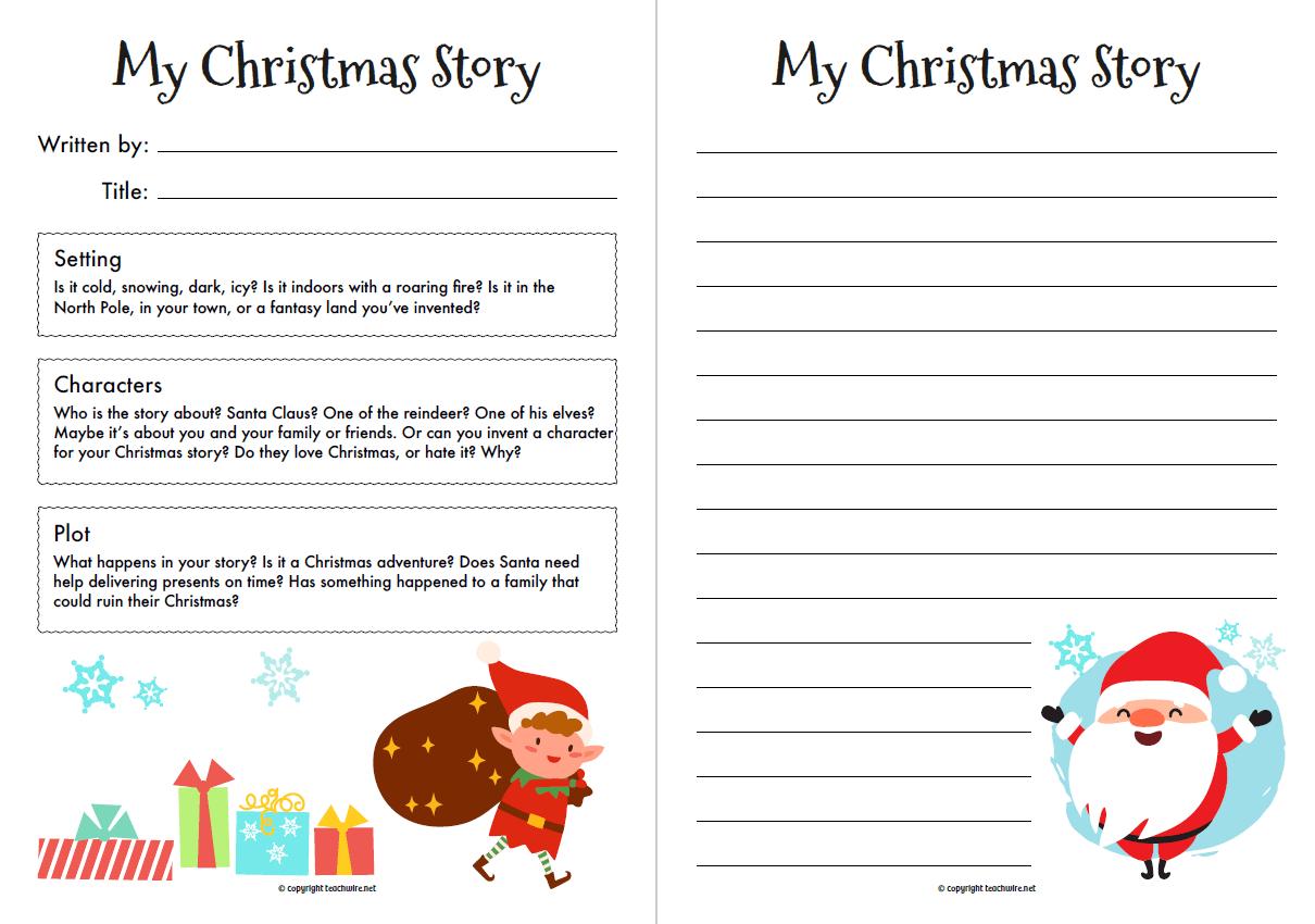 Christmas Story Starter Worksheet For Ks1 And Ks2 English