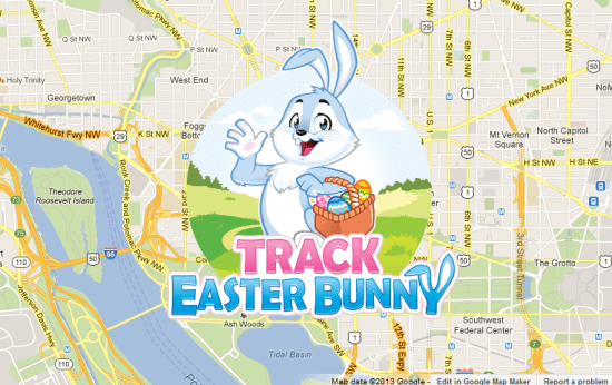 Official Easter Bunny Tracker 2013