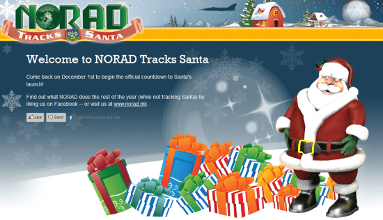 NORAD Tracks Santa website goes live December 1