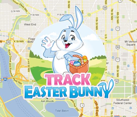 easter bunny tracker 2017