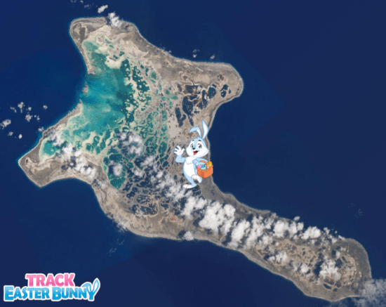 Easter Bunny on Christmas Island