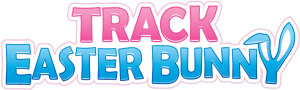 Track Easter Bunny Text Logo